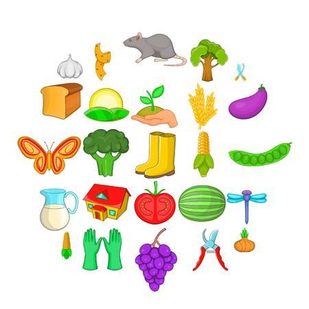 Kinsfolk icons set, cartoon style