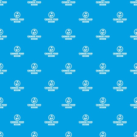 Chinese food pattern vector seamless blue