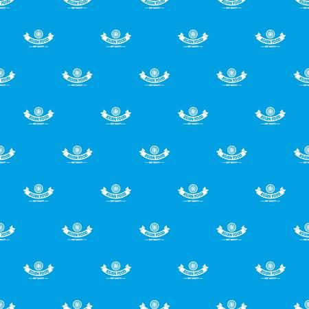 Hot asian food pattern vector seamless blue Illustration