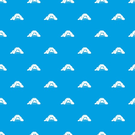 Cave pattern vector seamless blue
