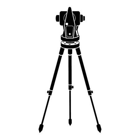Icono de teodolito. Ilustración simple del icono de vector de teodolito para diseño web aislado sobre fondo blanco