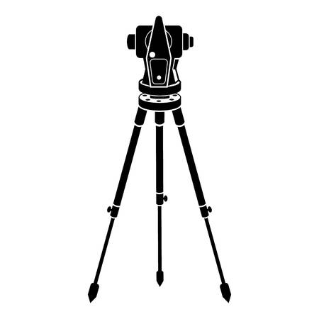 Theodolite icon. Simple illustration of theodolite vector icon for web design isolated on white background