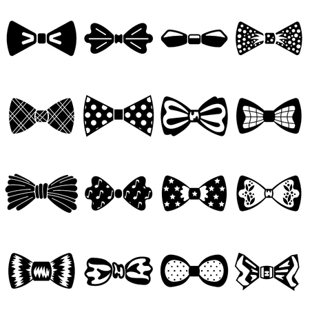 Bowtie icons set. Simple set of bowtie vector icons for web design on white background Vektorové ilustrace