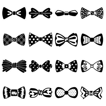Conjunto de iconos de pajarita. Conjunto simple de iconos de vector de pajarita para diseño web sobre fondo blanco Ilustración de vector