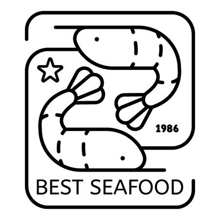Outline best sea food vector   for web design isolated on white background Illusztráció