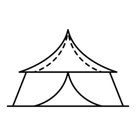 Gazebo icon. Outline gazebo vector icon for web design isolated on white background
