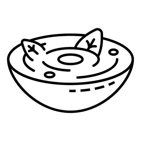Icône de soupe aux épinards. Contours soupe aux épinards icône vecteur pour la conception web isolé sur fond blanc Vecteurs