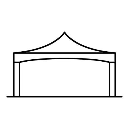 Ikona składanego namiotu. Zarys składany namiot wektor ikona do projektowania stron internetowych na białym tle Ilustracje wektorowe