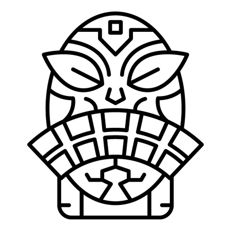 Tropical idol icon. Outline tropical idol vector icon for web design isolated on white background