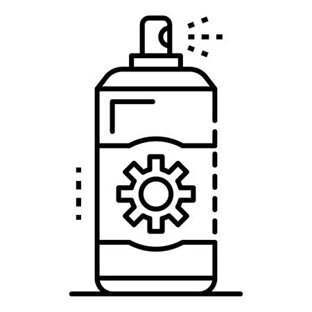Sunscreen spray icon. Outline sunscreen spray vector icon for web design isolated on white background