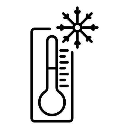 Minus thermometer icon. Outline minus thermometer vector icon for web design isolated on white background Vecteurs