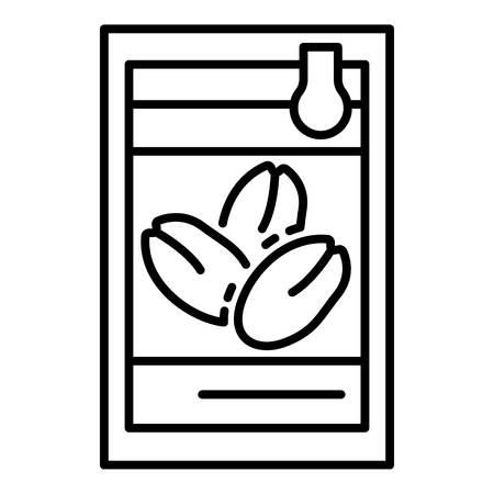 Fresh peanut icon, outline style