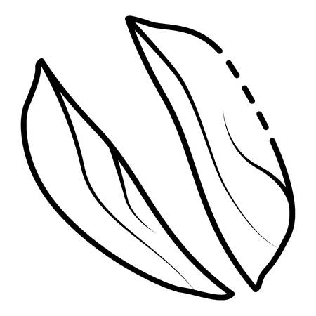 Cutted peanut icon, outline style
