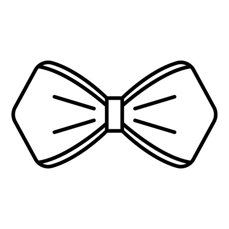 Bow tie icon. Outline bow tie vector icon for web design isolated on white background