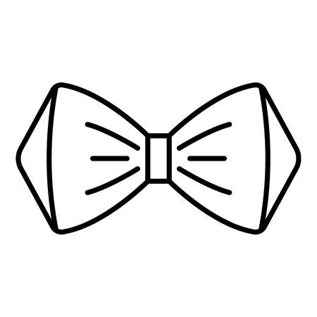 Elegante Fliege Ikone. Umreißen Sie elegante Fliegevektorikone für Webdesign lokalisiert auf weißem Hintergrund