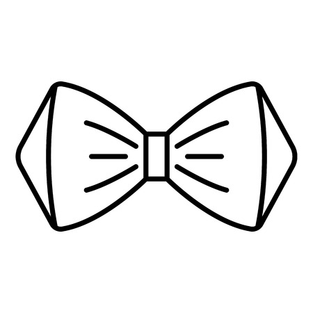 Icône de noeud papillon élégant. Icône de vecteur de noeud papillon élégant contour pour la conception web isolé sur fond blanc