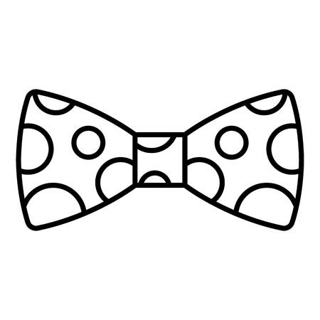 Polka bow tie icon. Outline polka bow tie vector icon for web design isolated on white background Illustration