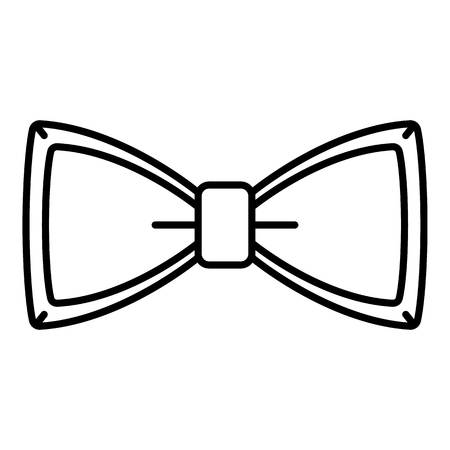 Neck bow tie icon. Outline neck bow tie vector icon for web design isolated on white background