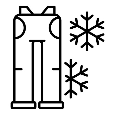 Ski pants icon. Outline ski pants vector icon for web design isolated on white background 向量圖像