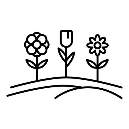 Pension flower garden icon. Outline pension flower garden vector icon for web design isolated on white background