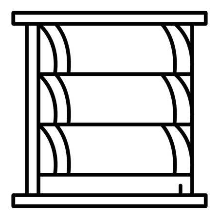 Big window shutter icon, outline style