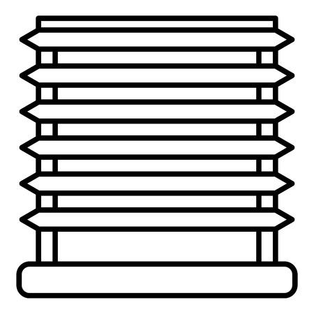 Horizontal louvers icon, outline style