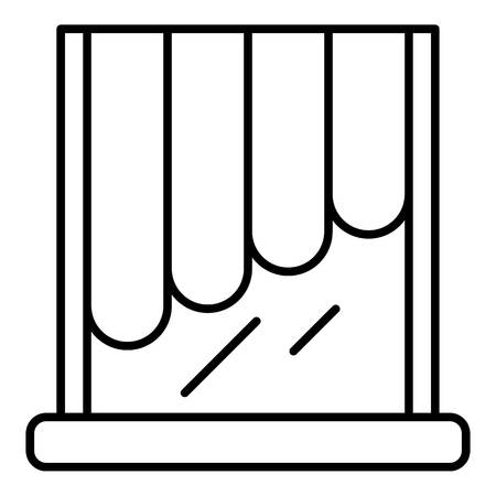 Decoration louvers icon, outline style