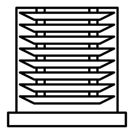 Horizontal jalousie icon, outline style Ilustrace