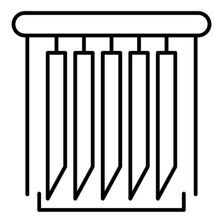 Vertical jalousie icon, outline style Illustration