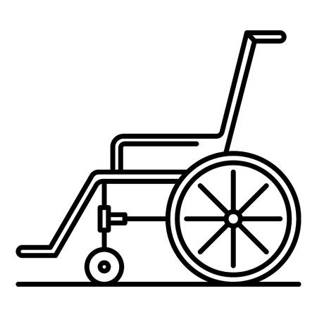 Wheelchair icon. Outline wheelchair vector icon for web design isolated on white background Illustration
