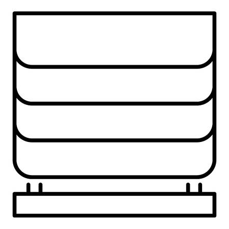 Home blind window icon, outline style