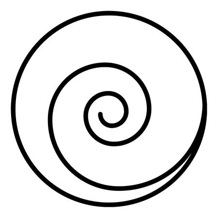 Circle spiral icon. Outline circle spiral vector icon for web design isolated on white background