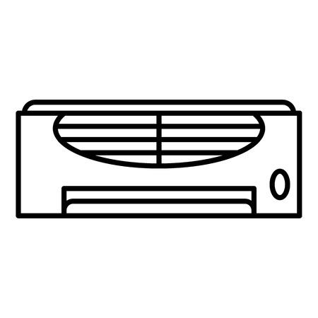 Retro conditioner icon. Outline retro conditioner vector icon for web design isolated on white background