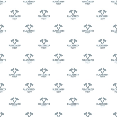 Premium blacksmith pattern vector seamless