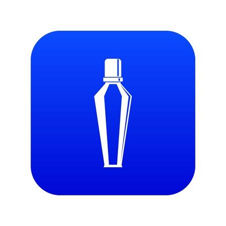 Elegant woman perfume glass bottle icon digital blue Stock Vector - 115331195