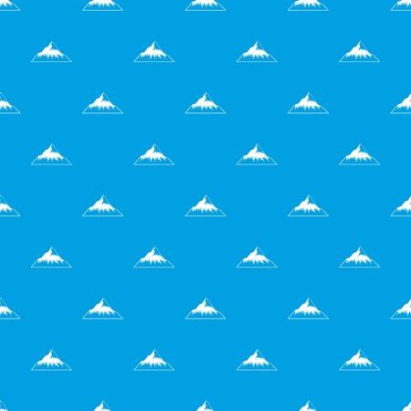 Mountain pattern vector seamless blue Ilustração