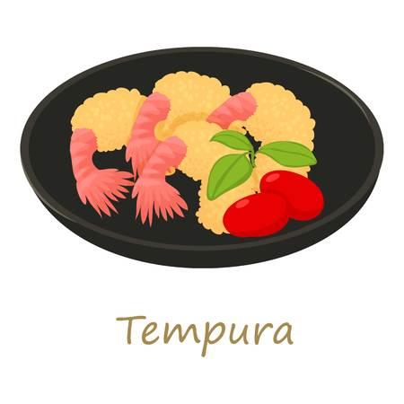 Tempura icon, cartoon style Imagens