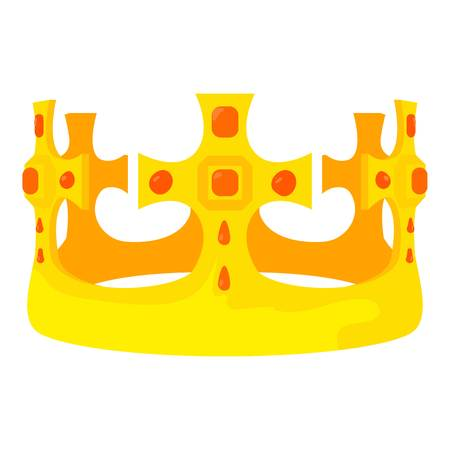 Crown Prince icon, cartoon style