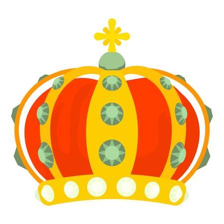 Monomach cap icon, cartoon style