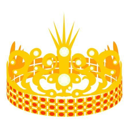 Crown of the Princess icon, cartoon style