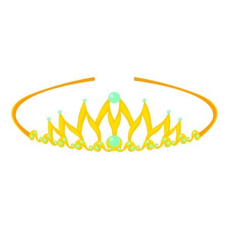 Tiara icon, cartoon style