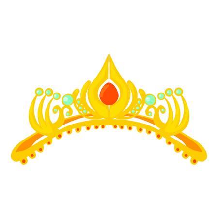 Coronal icon, cartoon style
