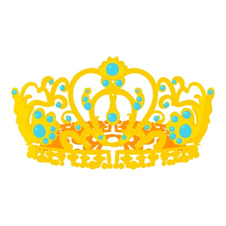 Crown of the Queen icon, cartoon style Stock Photo