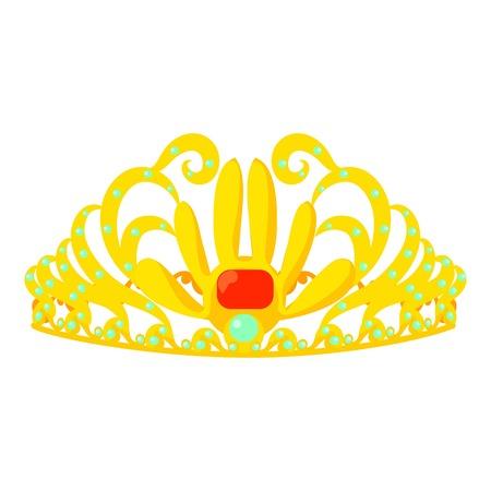 Aureola icon, cartoon style Imagens