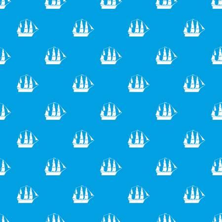 Sailboat pattern vector seamless blue Vektoros illusztráció