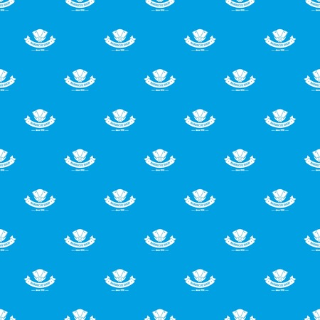 Barbecue shop pattern vector seamless blue