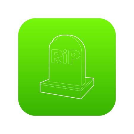 Rip icon green vector