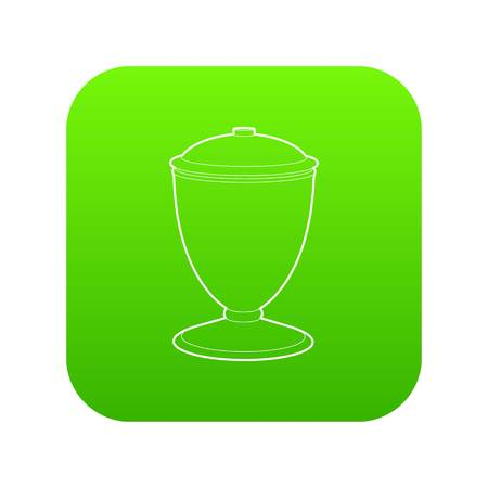 Urn icon green vector