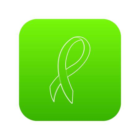Black ribbon icon green vector Illustration