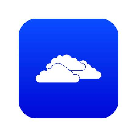 Clouds icon digital blue for any design isolated on white vector illustration